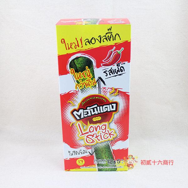 泰國零食正宗泰國烤海苔捲(經典麻辣)60g_12入【0216零食團購】8858752603053