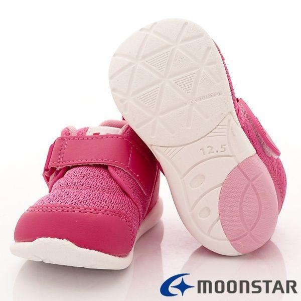 日本 MOONSTAR Carrot系列學步玩耍款 運動鞋 速乾鞋-粉(13.5-14.5cm)