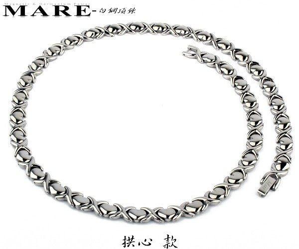 【MARE-白鋼項鍊】系列:拱心 款