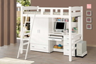 貝莎3.8尺白色多功能挑高床 大特價18600元(大台北免運費)【阿玉的家2019】