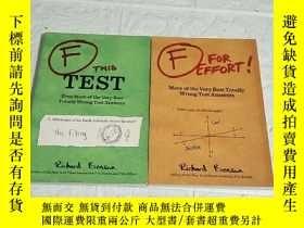 二手書博民逛書店F罕見THIS TEST!+F FOR EFFORT!(兩本合售