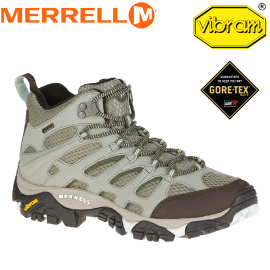 【MERRELL 美國 女款 MOAB MID GORE-TEX 淺灰】ML32844/越野鞋/休閒鞋/登山鞋/運動鞋/健行★滿額送
