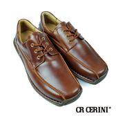 【CR Cerini】綁帶方頭休閒便鞋 咖啡色(34112-BR)