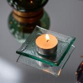 北歐透淨方型小燭盤8CM-生活工場
