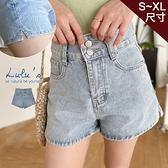 LULUS【A04210129】Y雙釦牛仔短褲S-XL藍