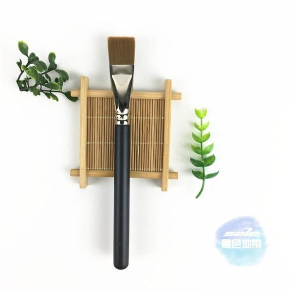 化妝刷 平頭超薄面膜刷粉底液刷 粉底刷人造纖維化妝刷銅管