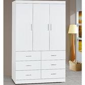 衣櫃 衣櫥 AT-645-1 純白耐磨4X7尺衣櫃【大眾家居舘】