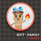 GIFT FAMILY-ANGRY◎陶瓷吸水杯墊-設計款-【Fruit Shop】