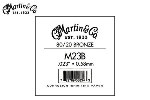 【小叮噹的店】Martin馬丁 民謠吉他 G弦 第三弦 M23B (.023) .青銅0/20
