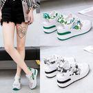 運動涼鞋女2019夏季新款韓版鏤空小白鞋單鞋透氣內增高厚底鞋