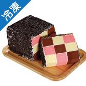 三色蛋糕12公分/條【愛買冷凍】