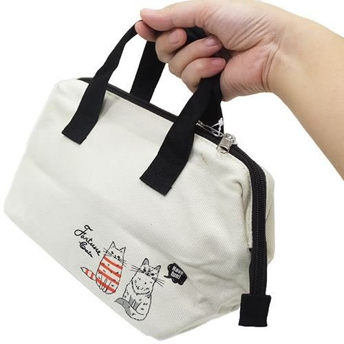 【小福部屋】日本空運 保溫 便當袋 (貓咪情侶) 時尚托特包 保冷 保溫袋 交換禮物【新品上架】