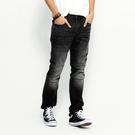 SISJEANS-灰黑3D立體修身牛仔褲【16171007】