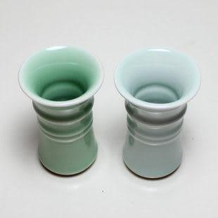 龍泉青瓷粉青釉手工小花瓶