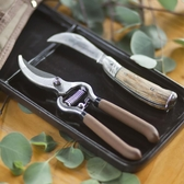 花小白 修剪套裝 修枝剪和嫁接刀各一把  出口工具