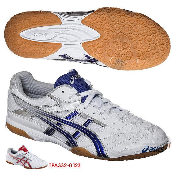 ASICS亞瑟士 男女全碼 桌球鞋 (白/藍) TPA332-0142【 胖媛的店 】