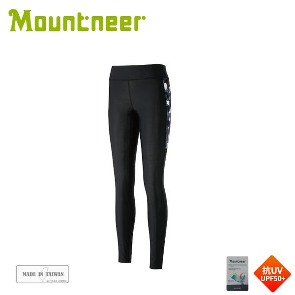 【Mountneer 山林 中性輕壓力貼腿褲《深灰藍》】31S09/壓力褲/單車褲/運動褲/貼腿褲