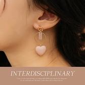 現貨◆PUFII-耳環 甜美立體愛心耳針式耳環-1015 秋【CP19296】