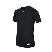 MIZUNO 男短袖緊身衣(免運 吸濕排汗 抗UV 運動 健身 台灣製 美津濃≡體院≡ 12TA0C0309