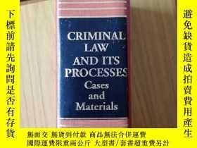二手書博民逛書店criminal罕見law and its processY14