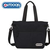 【橘子包包館】OUTDOOR 輕遊系-二用肩背包-黑色 OD101111BK 肩背包/側背包(A4文件可)