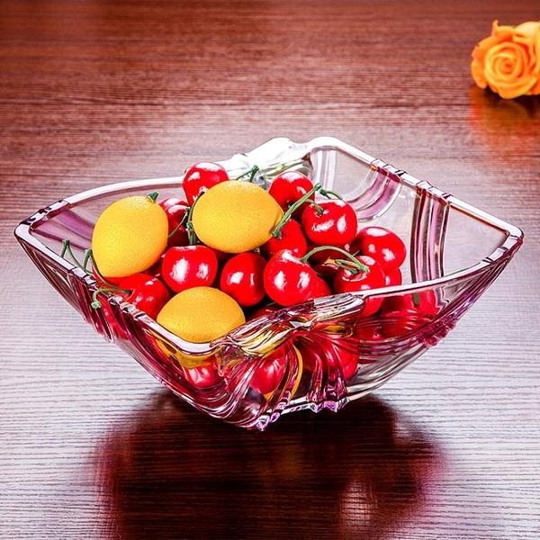 尺寸超過45公分請下宅配日本進口水晶果盤大號家用果斗簡約糖果盤