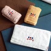 純棉情侶洗臉面巾刺繡毛巾擦臉韓式可愛加厚吸水【櫻田川島】