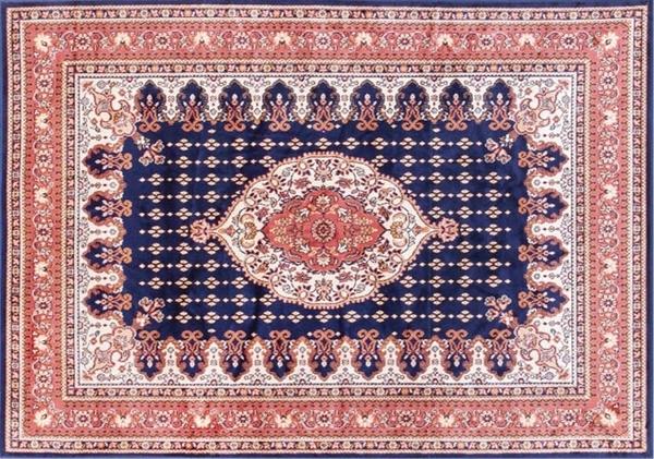 范登伯格 紅寶石輕柔絲質感地毯 踏墊 門墊 紅豔藍-50x70cm