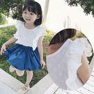 點點棉麻透氣小飛袖上衣 (另有褲裙賣場) 橘魔法 Baby magic 現貨 女童 中小童