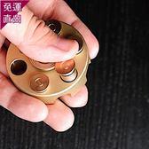 左輪指尖陀螺可裝填子彈 黃銅子彈減壓玩具EDC【快速出貨】