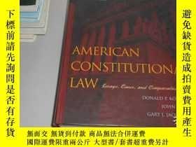 二手書博民逛書店American罕見Constitutional Law 精裝英