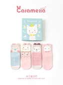 caramella寶寶襪子秋冬純棉男女童襪可愛中筒禮盒襪童襪兒童襪子