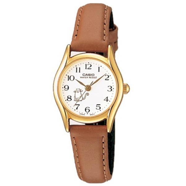【CASIO】 淑女寵物款造型指針腕錶-貓咪(LTP-1094Q-7B8)