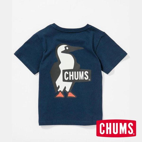 CHUMS 日本 童 Booby LOGO 短袖T恤 深藍 CH211052N001