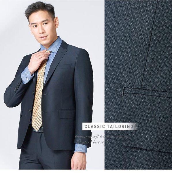 極品西服 時尚品味窄版小劍領西裝外套_丈青(AW751-3G)