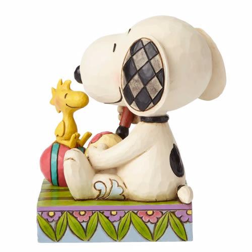 《Enesco精品雕塑》SNOOPY與糊塗塌克復活節彩繪彩蛋塑像-A Colorful Tradition(Peanuts by Jim Shore)_EN89279