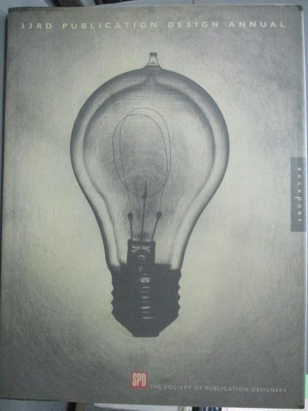 【書寶二手書T7/設計_WFB】33rd publication design annual_Society of Pu