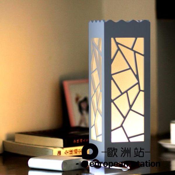 檯燈/創意藝術床頭小夜燈閱讀LED節能【歐洲站】