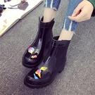 雨靴 短筒時尚雨鞋女士工作高中筒防水防滑可愛膠鞋水鞋子女式雨靴外穿 維多原創