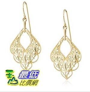 [美國直購] 14k Gold Small Scalloped Drop Earrings 耳環