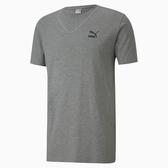 PUMA 男款灰色微笑圖樣短袖T恤-NO.59642703