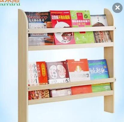 兒童書架壁掛幼兒園繪本架簡易書刊架雜誌架書櫃牆上置物架