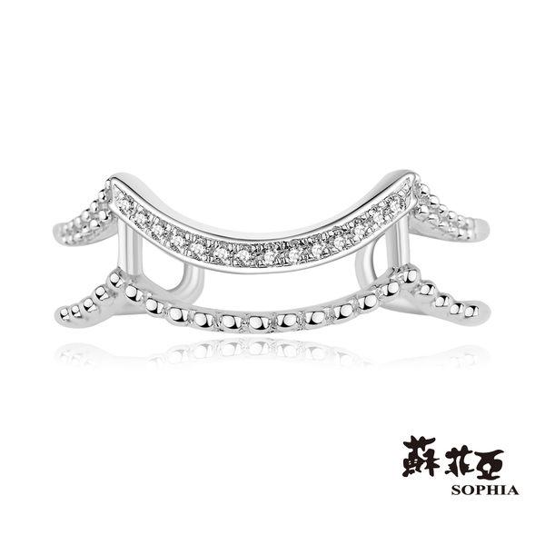 蘇菲亞SOPHIA - Romantic系列 鑽石波浪C型鑽戒