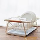 日式鐵藝盤碗架瀝水架北歐風家用廚房餐具水杯收納籃【小獅子】