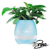 T.C.STAR 可彈奏智慧花盆藍牙喇叭 (TCS1150)白色跟藍色二款 【刷卡含稅價】
