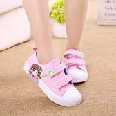 2017春兒童帆布鞋男童女童鞋布鞋低筒休閒板鞋透氣卡通寶寶中小童潮