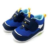 《7+1童鞋》寶寶 日本月星 MOONSTAR 透氣網布 機能鞋 運動鞋 學步鞋 高筒鞋 D433 藍色