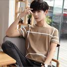 中大尺碼 短袖T恤男士修身圓領半袖純棉夏季上衣男潮流韓版新款 mc10142『男人範』