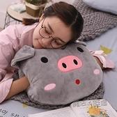 小豬暖手抱枕插手毛絨玩具可愛抱枕暖手捂手枕冬季睡覺送男女友 ATF 喜迎新春