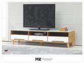 【MK億騰傢俱】ES380-07凱莉原木色電視櫃